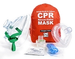 Adult/Child & Infant CPR Mask in Soft Case – RED