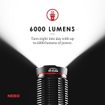 6,000 Lumen Rechargeable Flashlight