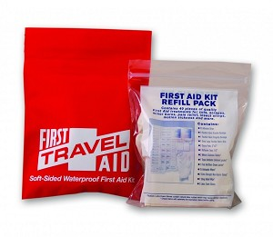 Travel First Aid Kit, 40 Piece, Waterproof Fabric Case