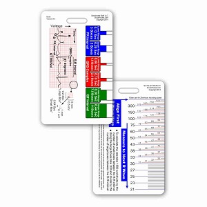 ECG Ruler & Diagram Badge Reference Card - Vertical